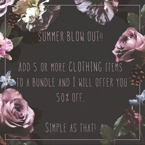 Other - Add 5+ CLOTHING items to a Bundle = 50% off
